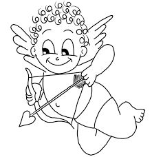 coloring good cupid coloring valentines