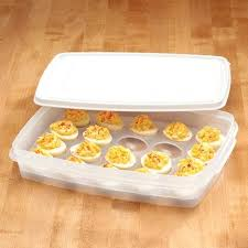 deviled egg holder covered deviled egg tray deviled eggs with yogurt on a tray with