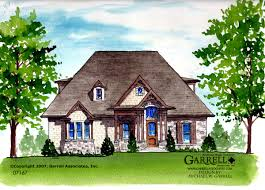 river stone cottage house plan covered porch plans
