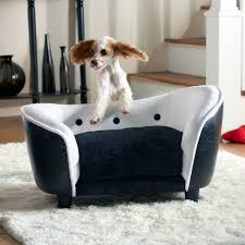 ultra plush snuggle couch dog bed black white dog couch