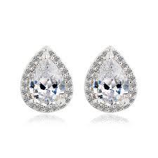 teardrop diamond earrings aliexpress buy european stylish earrings teardrop shape