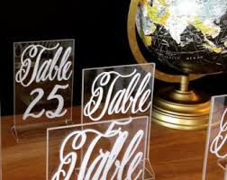 Wedding Table Number Ideas Unique Table Numbers Etsy