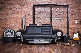 canapé voiture du mobilier ultra moderne inspiré de la voiture de sport anglo