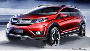 honda car 7 seater honda sketches out br v a 7 seater crossover for