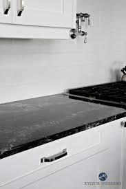 Kitchen Cabinets Black And White Best 25 Black Granite Countertops Ideas On Pinterest Black