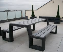 recycled plastic picnic tables matrix 008 recycled plastic picnic table and bench unit goplastic