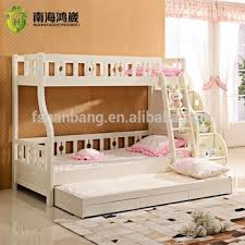 Bunk Bed For 3 3 Level Wooden Mdf Pull Out Bunk Bed Furniture With Drawer