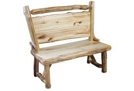 Rustic Log Benches - benches with backs rustic log