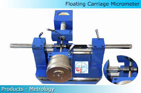 Bench Micrometer Working Floating Carriage Micrometer Lab Equipments Pvt Ltd