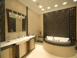 modern bathroom mirror lighting mosaic wall tiles shower wall