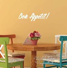 Dining Room Wall Quotes Compare Prices On Bon Appetit Wall Stickers Online Shopping Buy