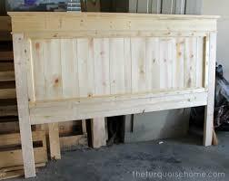 Wood King Headboard Diy Farmhouse Headboard How To The Turquoise Home Home