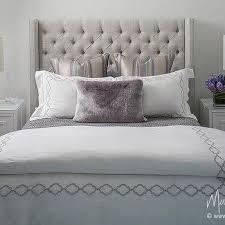 purple wingback headboard contemporary bedroom the ampersand