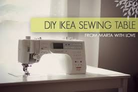 how to make a drop in sewing table ikea sewing table tutorial from marta with love