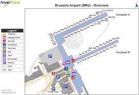 Denver Terminal B Map Brussels Brussels Bru Airport Terminal Map Overview