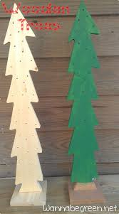 wooden christmas trees drill holes for twinkle lights
