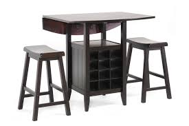wine sets baxton studio black wood 3 modern drop leaf pub set