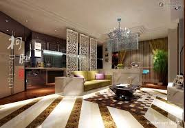 wonderful modern kitchen living room large floor with chic wall