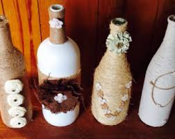 Wine Bottle Home Decor Wine Bottle Crafts Etsy