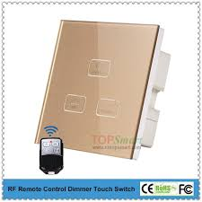 Touch Light Control Uk Standard 3 Key 1 Load Rf Remote Control Dimmer Touch Switch For