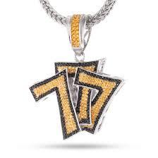 hip hop necklace pendants images The triple 7s cz hip hop pendant hip hop pendants king ice jpg