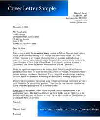 auditor cover letters
