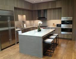 Commercial Kitchen Backsplash Contemporary Concrete Kitchen Countertop By Trueform Concrete