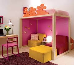 kid bedroom ideas for small rooms orange soft foam sofa seat