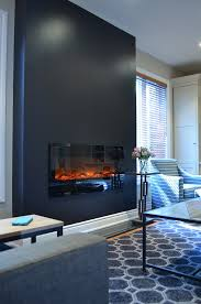 Fireplace Electric Insert by This Sleek Black Fireplace Wall With Electric Insert From Amantii