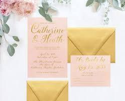 watercolor wedding invitations blush gold watercolor wedding invitations the catherine the