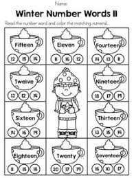 mitten number words match number words mittens and numbers