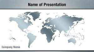 silver world map powerpoint templates silver world map