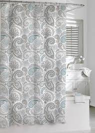 Bathroom Shower Curtain Decorating Ideas Bathroom Daliah Paisley Grey Shower Curtain For Awesome Bathroom