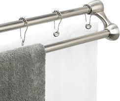 Duo Shower Curtain Rod Duo Shower Curtain Rod And Towel Rack From Crate And Barrel