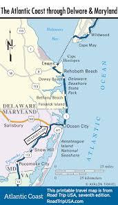 delaware road map usa the atlantic coast route in delaware road trip usa
