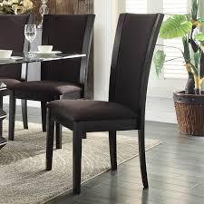 homelegance havre 7 piece glass top dining room set w dark brown