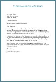 thank you letters to customers s solutions info