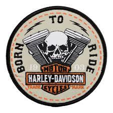 harley davidson born to ride skull v patch harley davidson