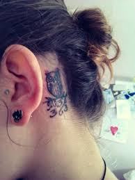behind ear tattoo designs 8