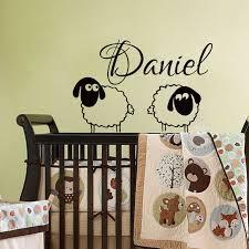 stickers mouton chambre bébé pépinière nom wall sticker pour enfants chambres deux moutons