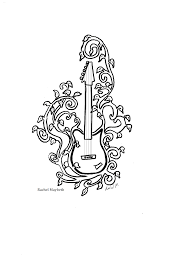 rachel maybeth guitar and piano clip art free coloring pages