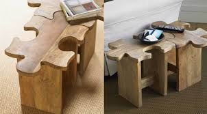 Table Jigsaw Piece Your Own Furniture Together With The Jigsaw Puzzle Stool Table