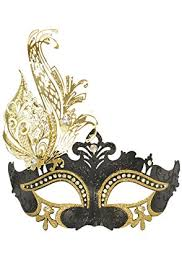 masquerade masks for women womens black and gold venetian masquerade mask with