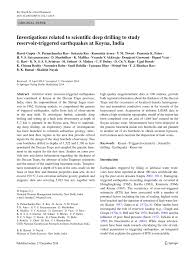investigations related to scientific deep drilling to study