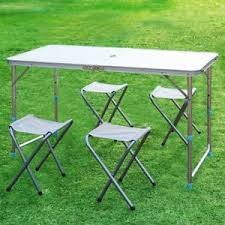 portable folding picnic table portable folding cing picnic table set w 4 seats outdoor garden