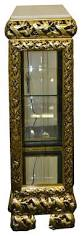 black and gold curio cabinet with marble top china cabinets and