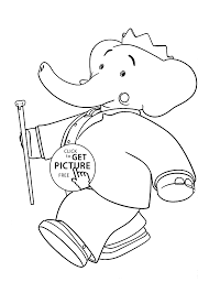 babar king coloring pages for kids printable free coloing 4kids com