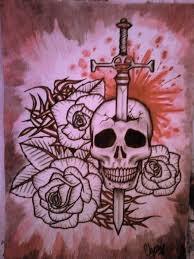 skull and sword by itchysack on deviantart