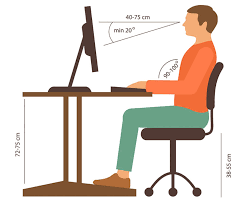 Height Of A Computer Desk Correct Height For Computer Desk
