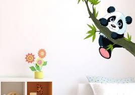 stickers panda chambre bébé stickers chambre enfant avec ds108 sticker arbre coeurs et oiseaux